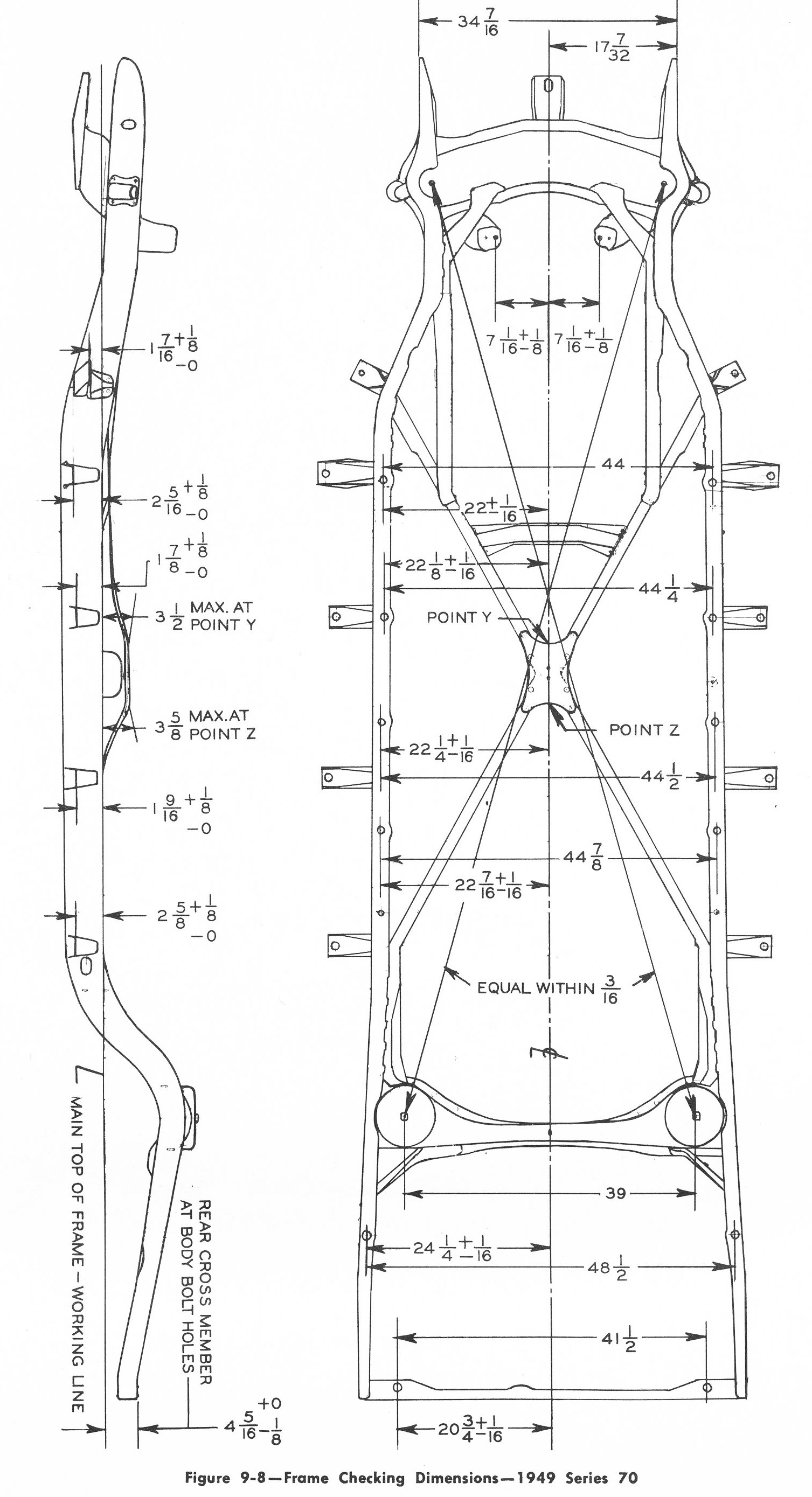 1932 ford frame diagram