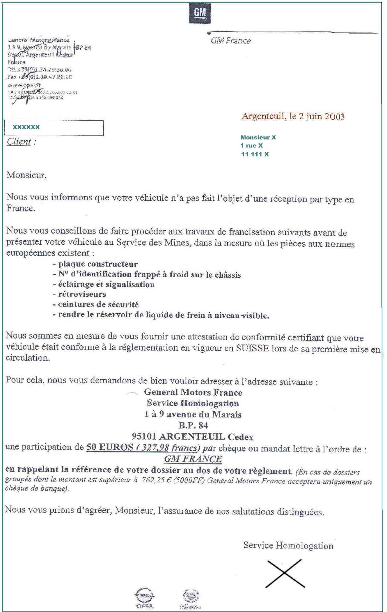 exemple d attestation de vente voiture